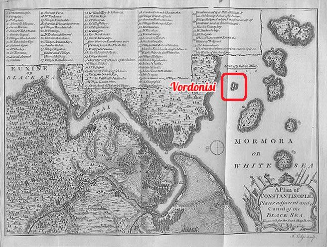 Vordonisi Harita 1770